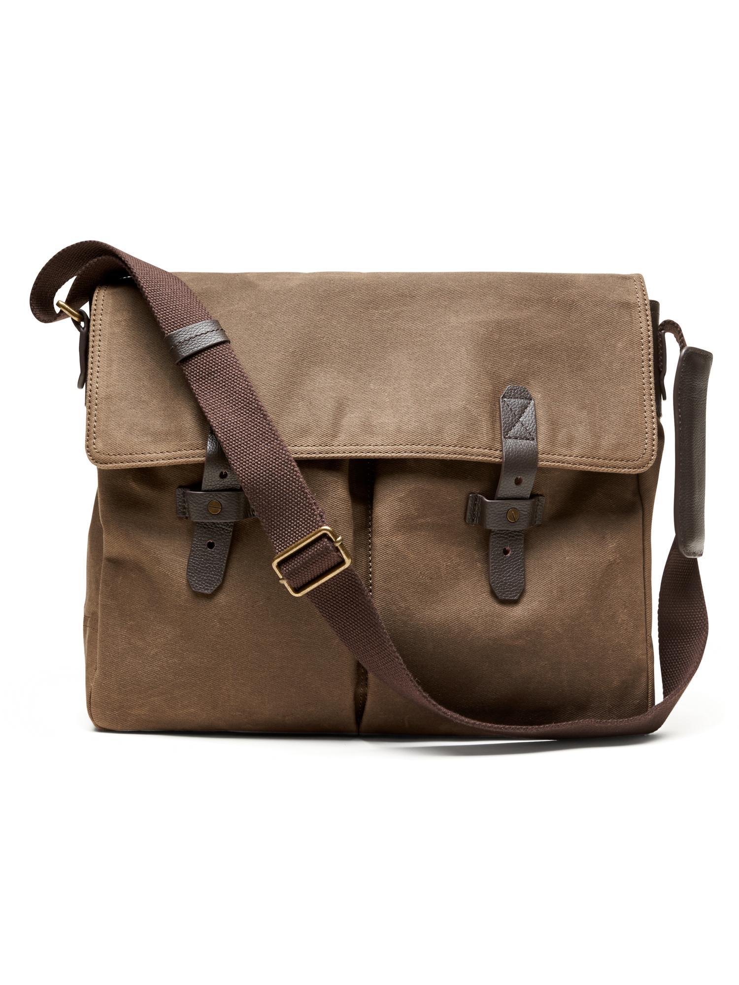 261819c33a1a Lyst - Banana Republic Rugged Canvas Messenger Bag in Natural for Men