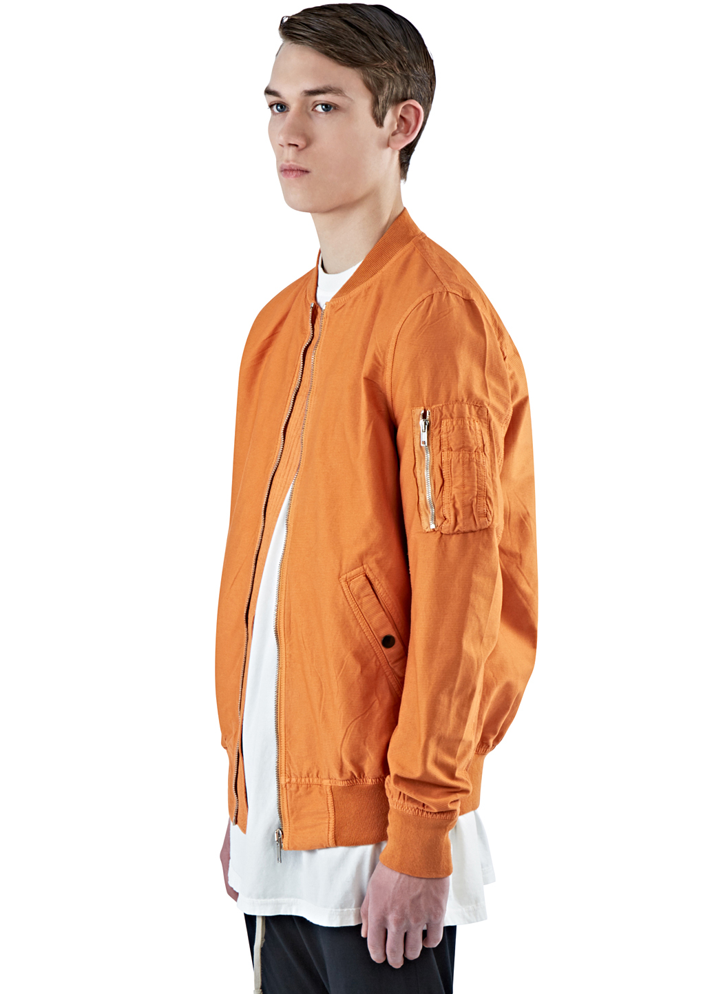 Drkshdw by rick owens Men's Flight Bomber Jacket In Orange in ...