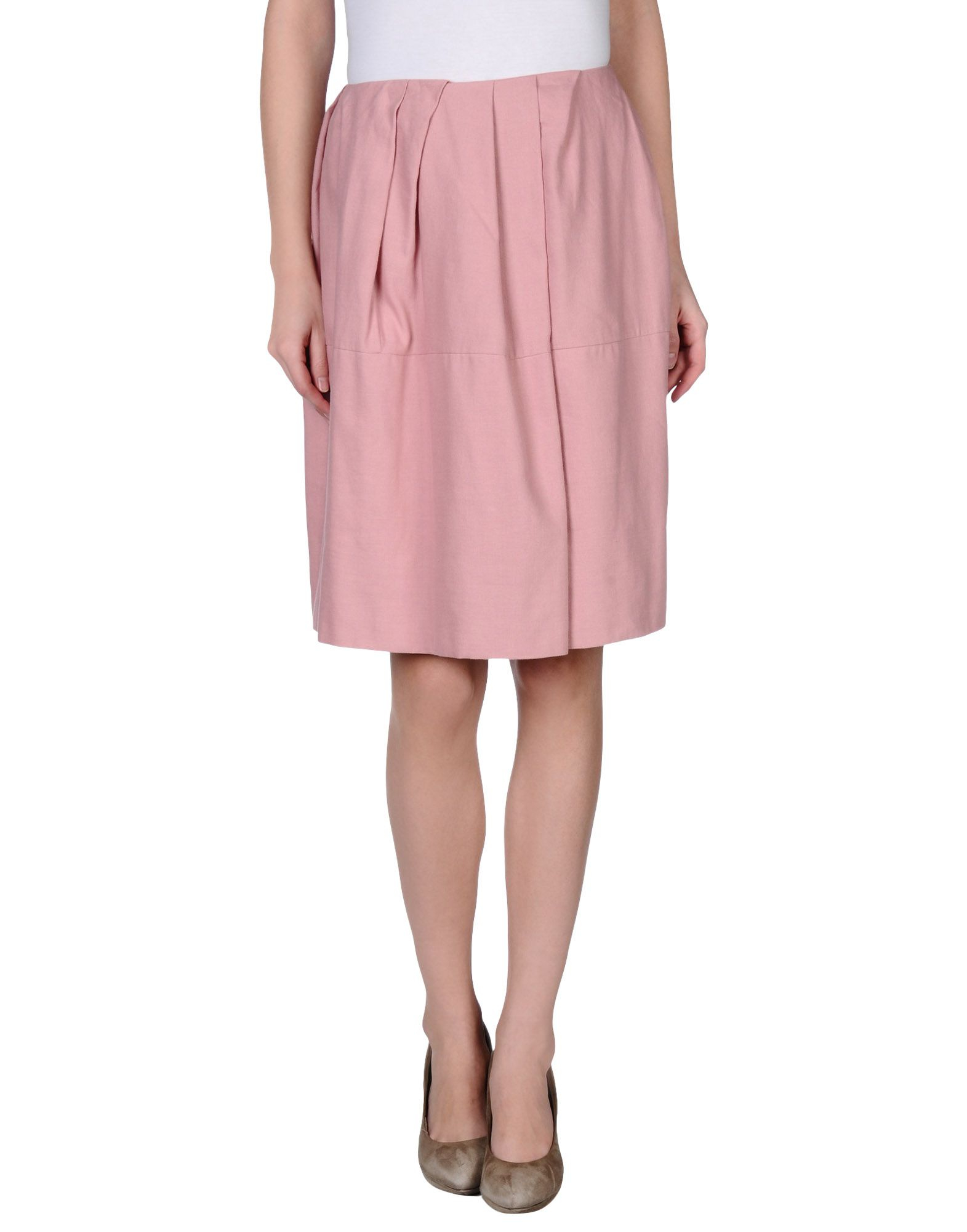 marni knee length skirt in pink lyst