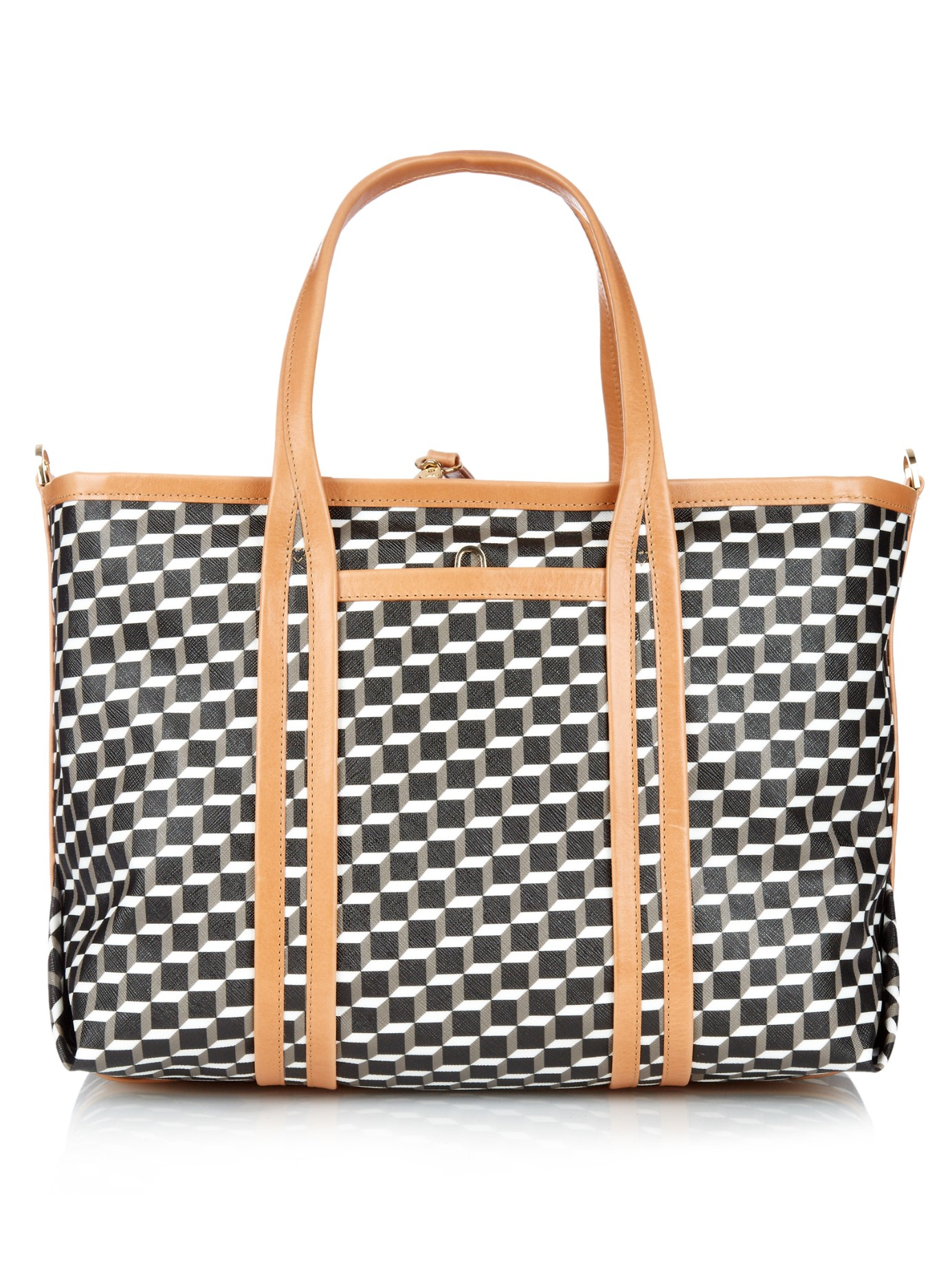 9ef84d085ef3 Lyst - Pierre Hardy Cube-print Coated-canvas Tote in Black