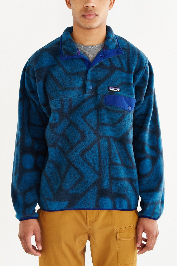Patagonia Synchilla Snap-t Fleece Pullover Jacket in Blue | Lyst