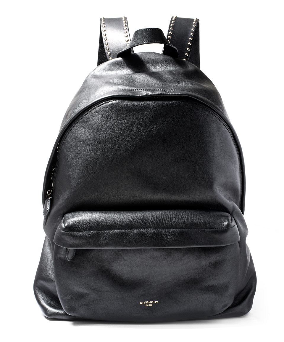 Givenchy Black Studded Leather Backpack in Black for Men | Lyst