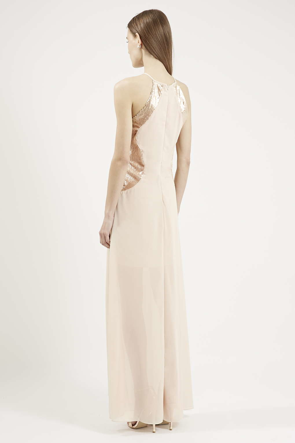 Lyst Topshop Sofia Maxi Dress By Tfnc In Natural