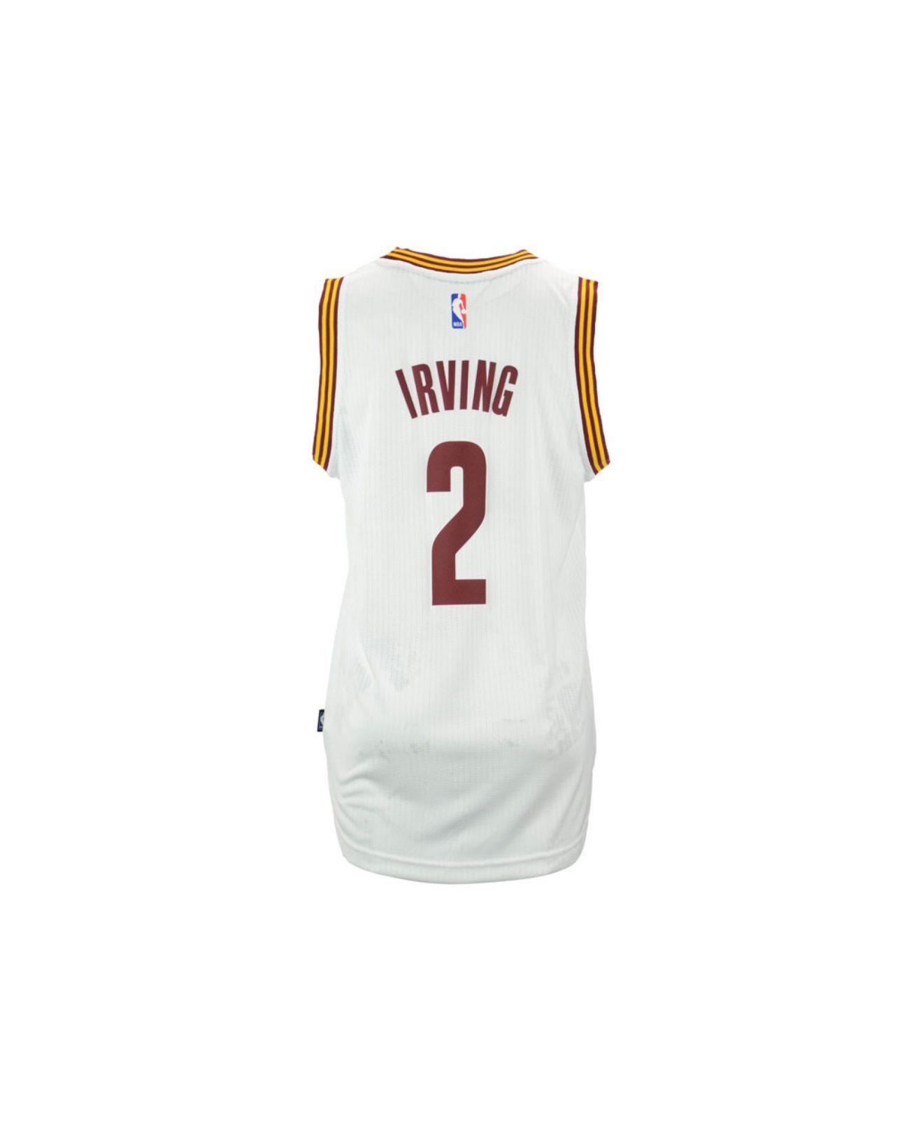 new york 9922b ae3ca Adidas Originals - White Men's Kyrie Irving Cleveland Cavaliers Swingman  Jersey for Men - Lyst