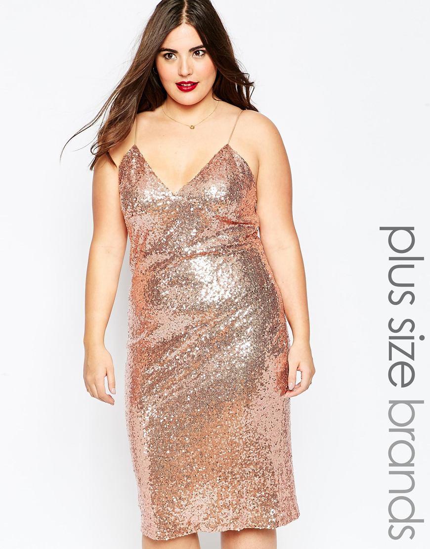 Club L Plus Size Sequin Shift Dress