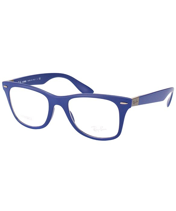 b275bad487 Lyst - Ray-Ban Rx 7034 5439 Matte Dark Blue Plastic Eyeglasses-52mm ...