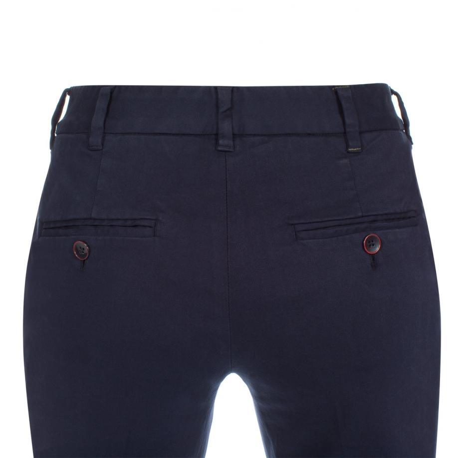4044c6f47ee2 Lyst - Paul Smith Women s Navy Cotton-chino Trousers in Blue