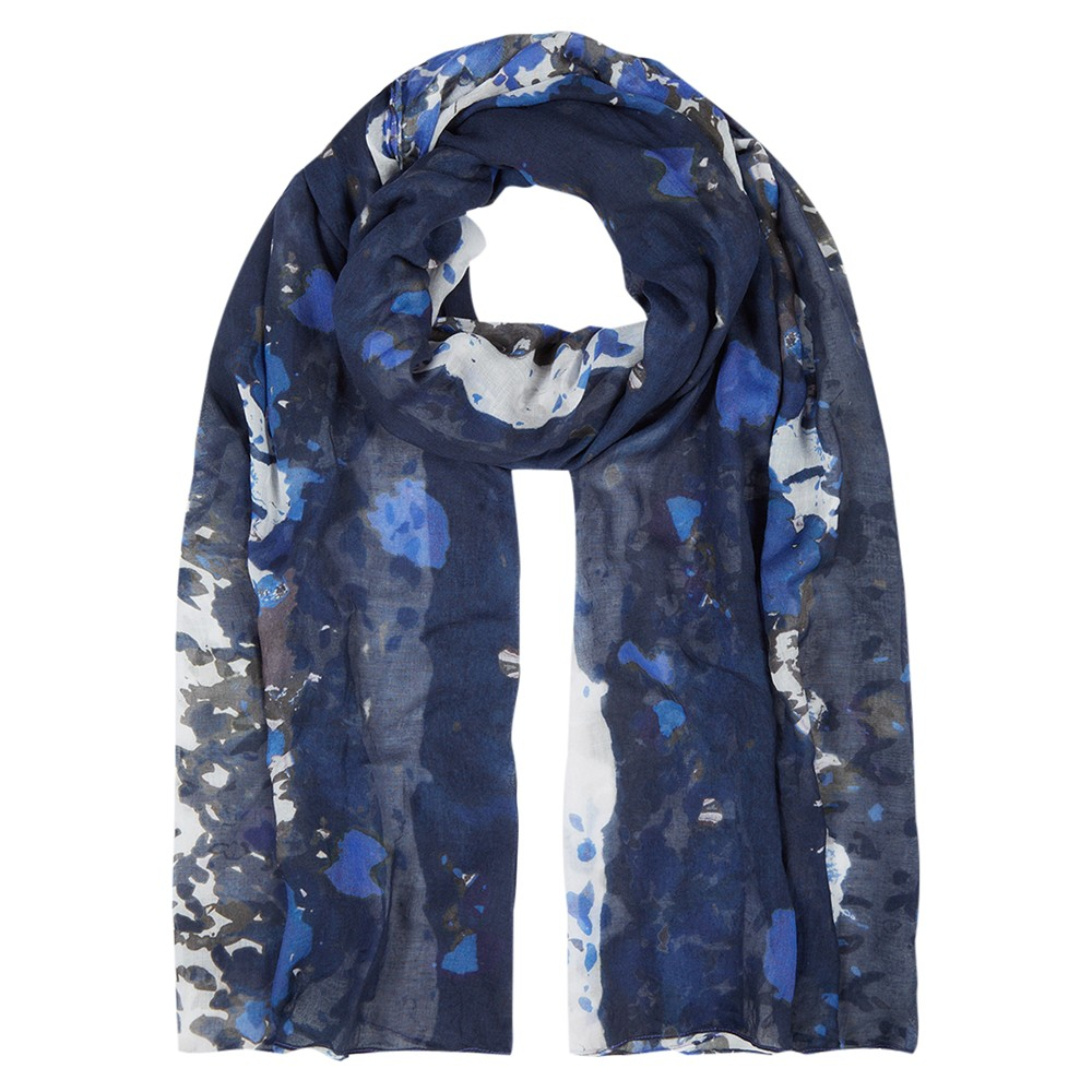 hobbs painterly floral scarf in blue navy lyst