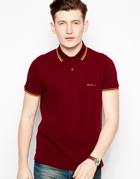 ben sherman polo shirt in red for men lyst