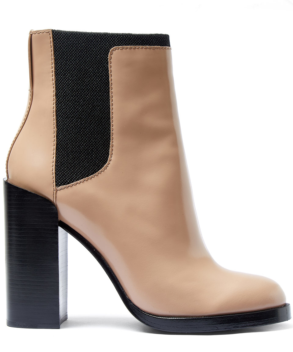 lyst 3 1 phillip lim taupe emerson panel heel leather chelsea boots in brown. Black Bedroom Furniture Sets. Home Design Ideas