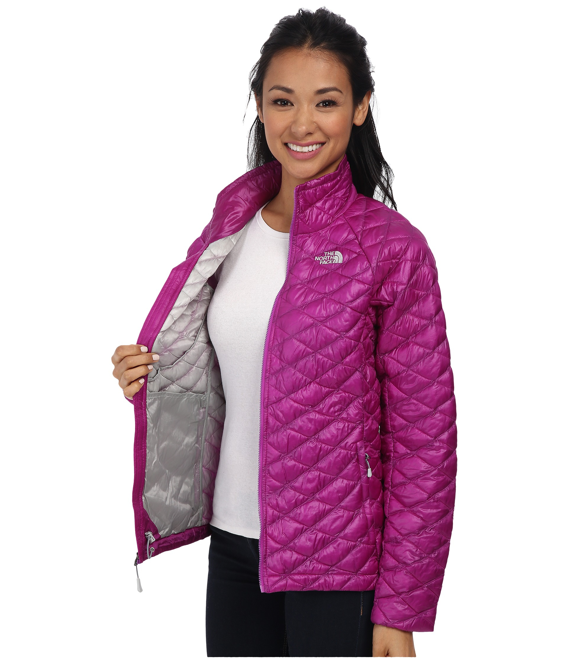 1e8f6850dc2 ... sweden lyst the north face thermoball full zip jacket in purple 828cf  e69aa