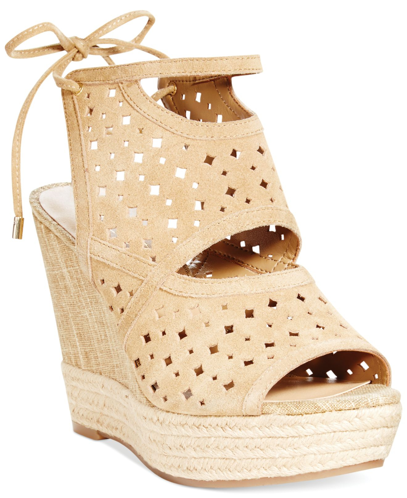 marc fisher alani platform wedge sandals in lyst