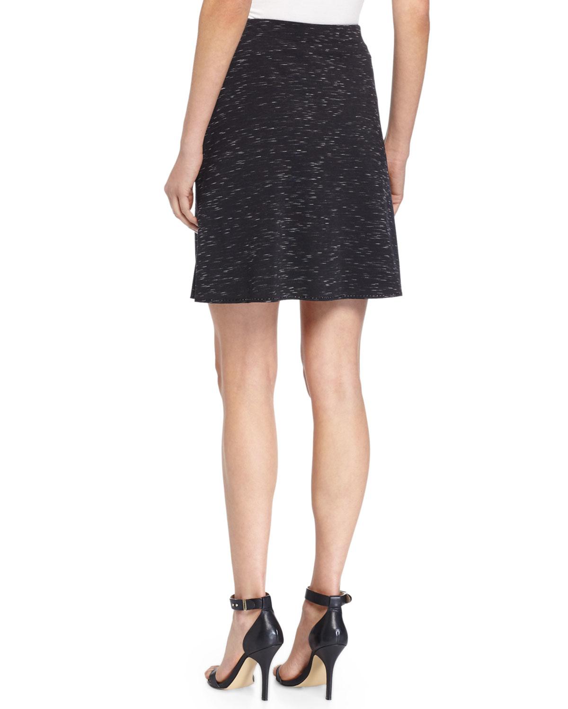 max studio ponte knit skirt w tonal stitching in black lyst