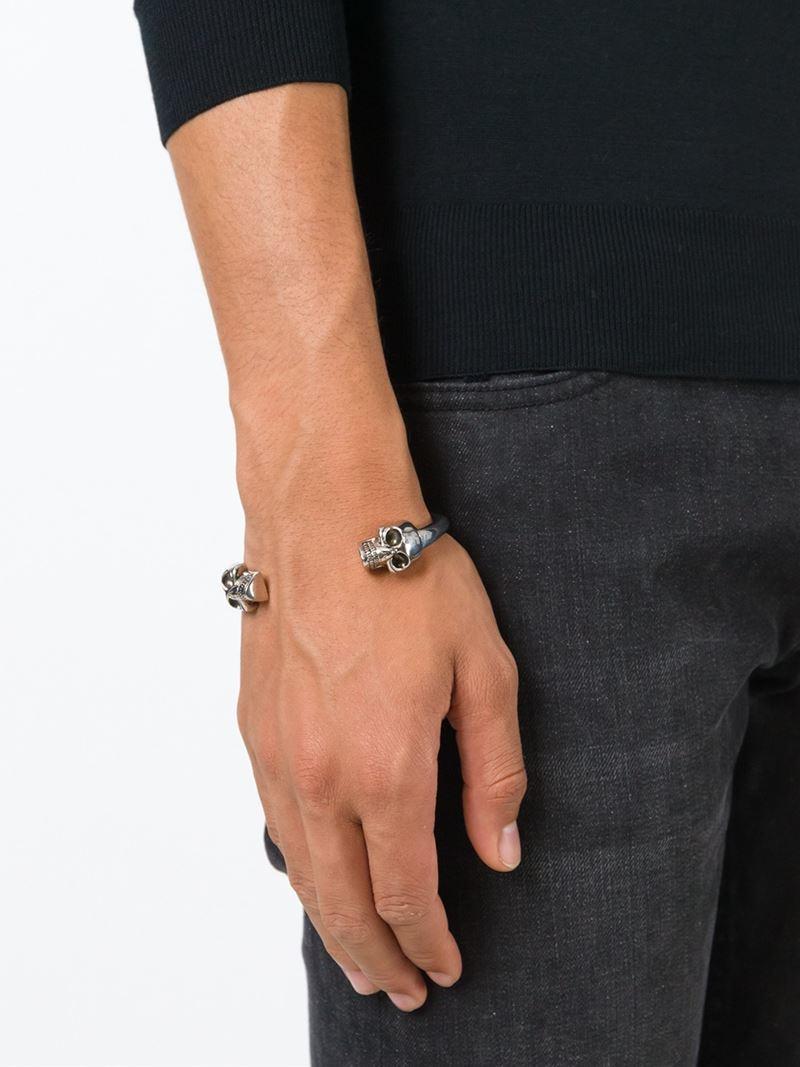 Alexander McQueen skeleton cuff bracelet - Metallic 8M2yAS5aeE