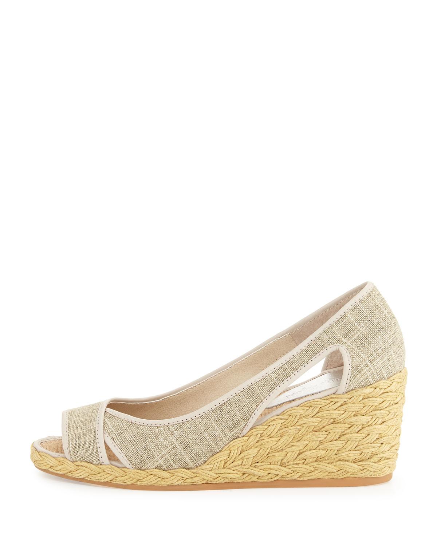 donald j pliner coraa linen espadrille wedge sandal in