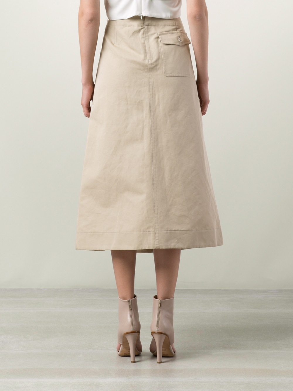 Christophe lemaire A-Line Skirt in Natural | Lyst