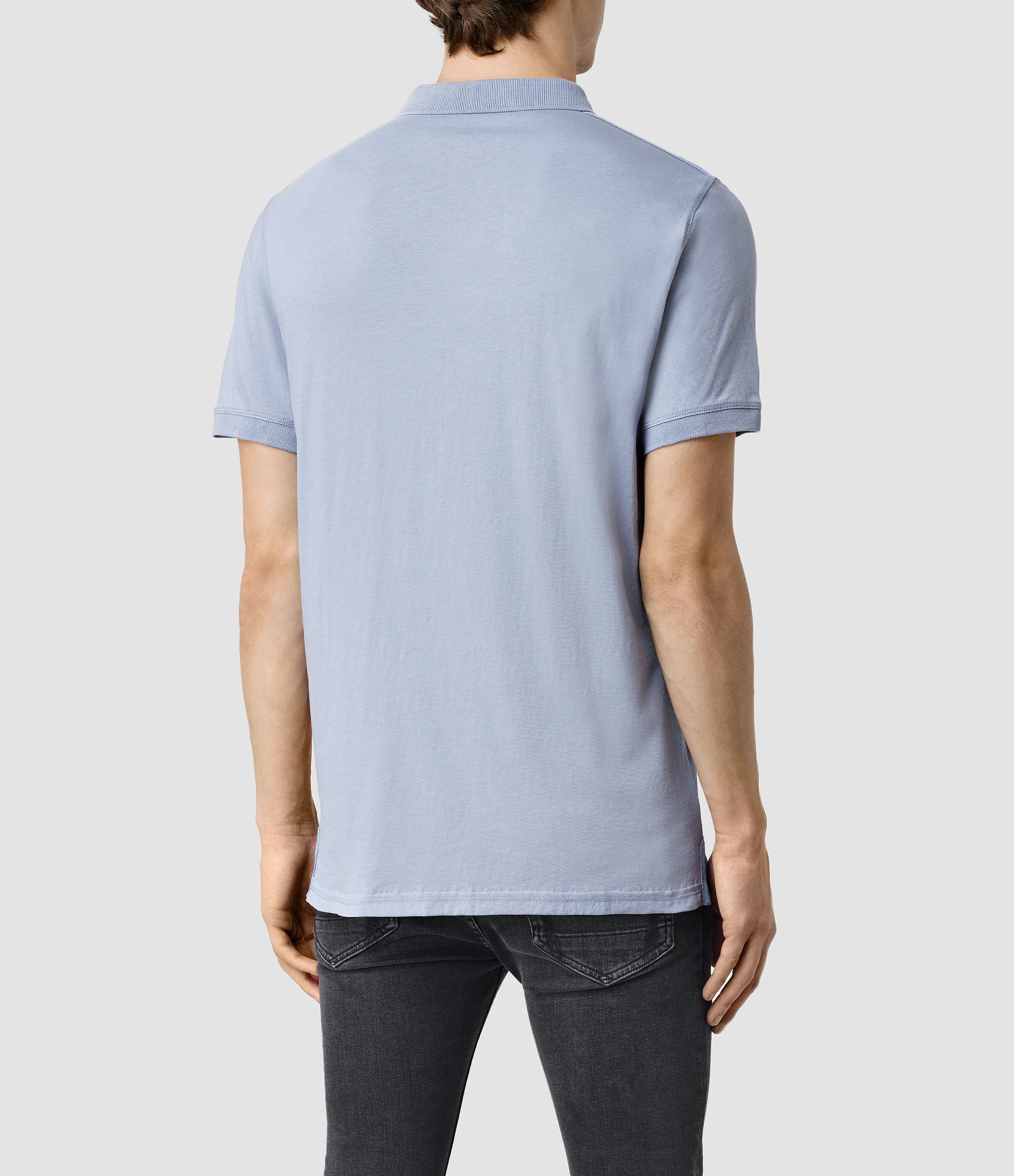 Allsaints alter polo shirt in blue for men lyst for All saints polo shirt