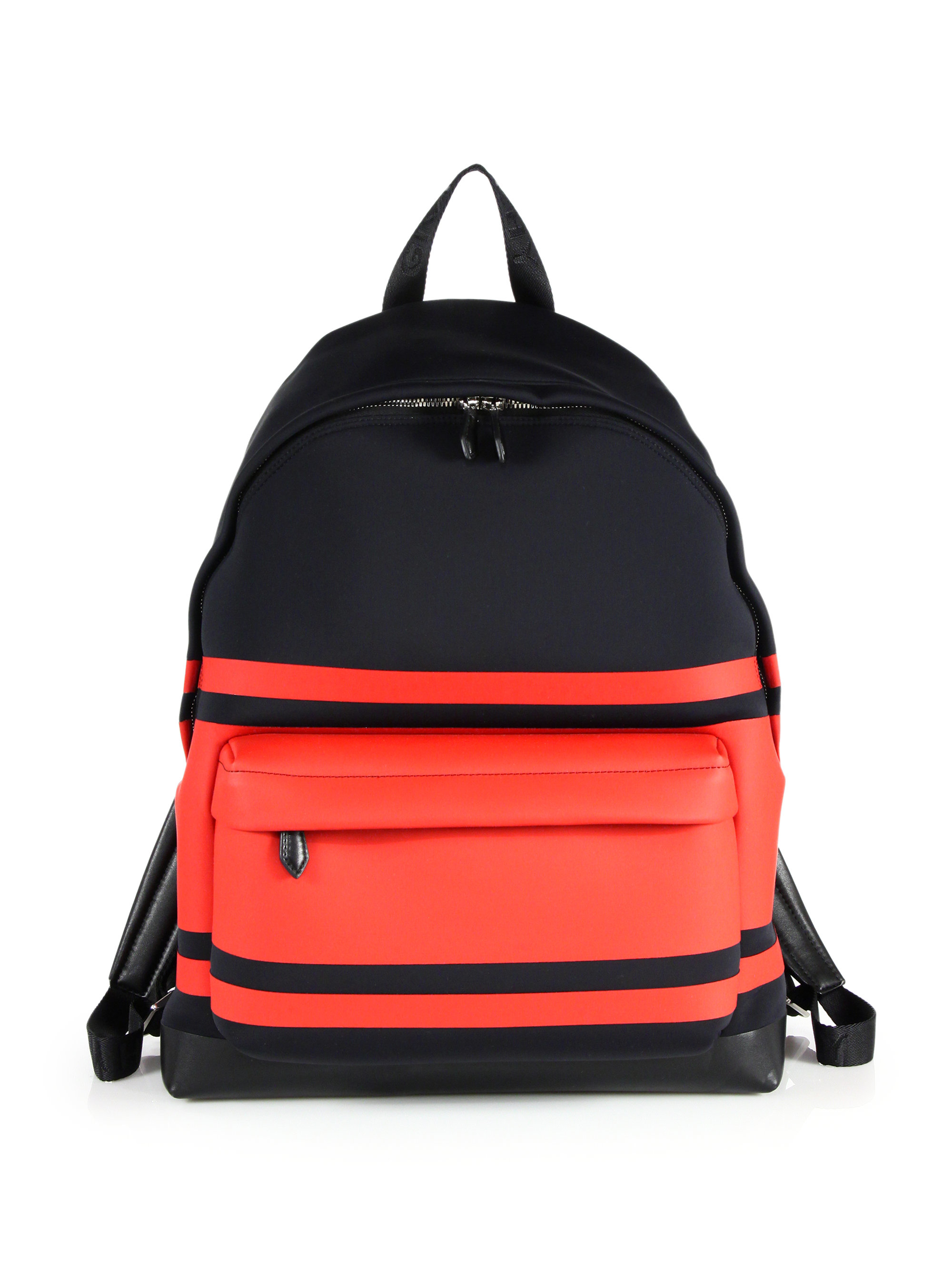 b4ef6f9fcccc Lyst - Givenchy Striped Neoprene Backpack in Black for Men