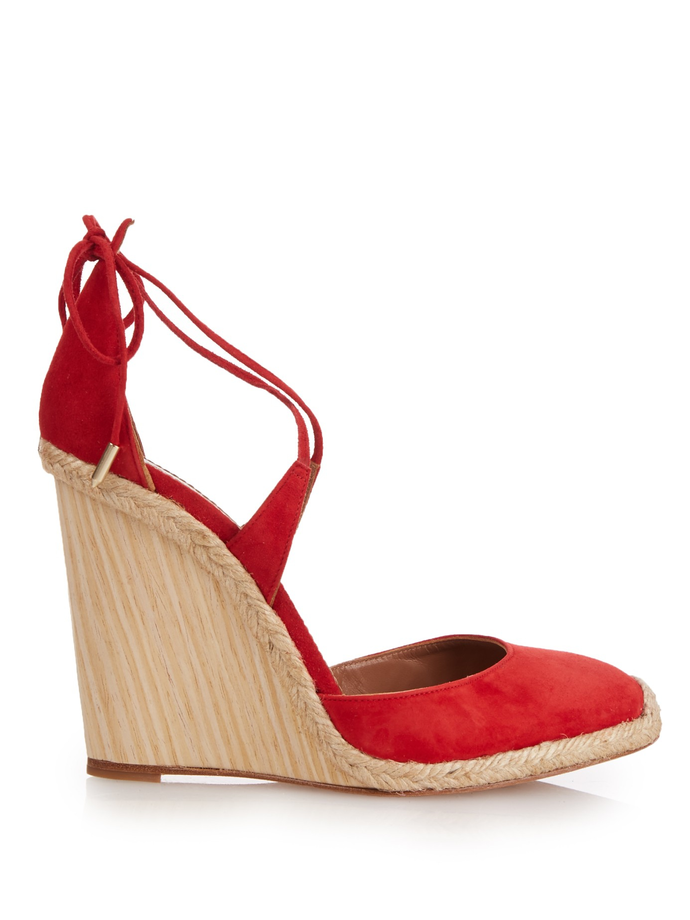 Lyst Aquazzura Karlie Espadrille Wedge Heels In Red