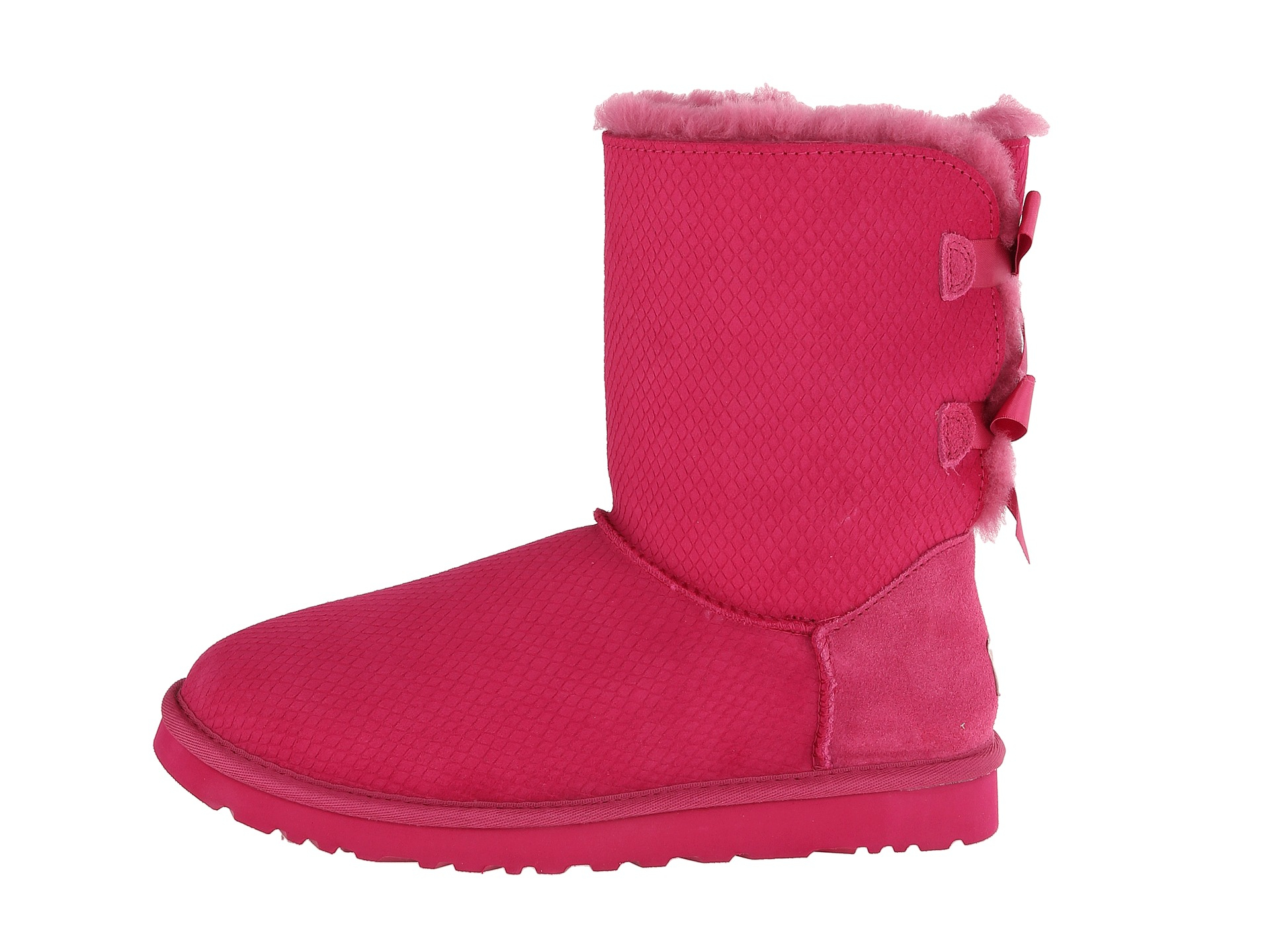 352ee6345b5 Lyst - UGG Bailey Bow Exotic Scales in Pink