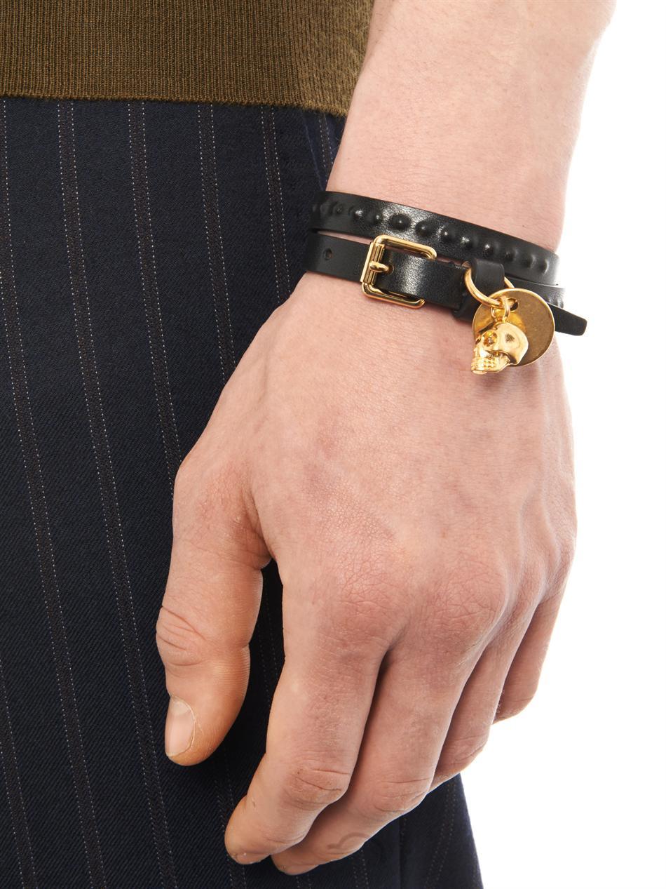 Alexander McQueen studded skull charm bracelet - Black 2IWZe
