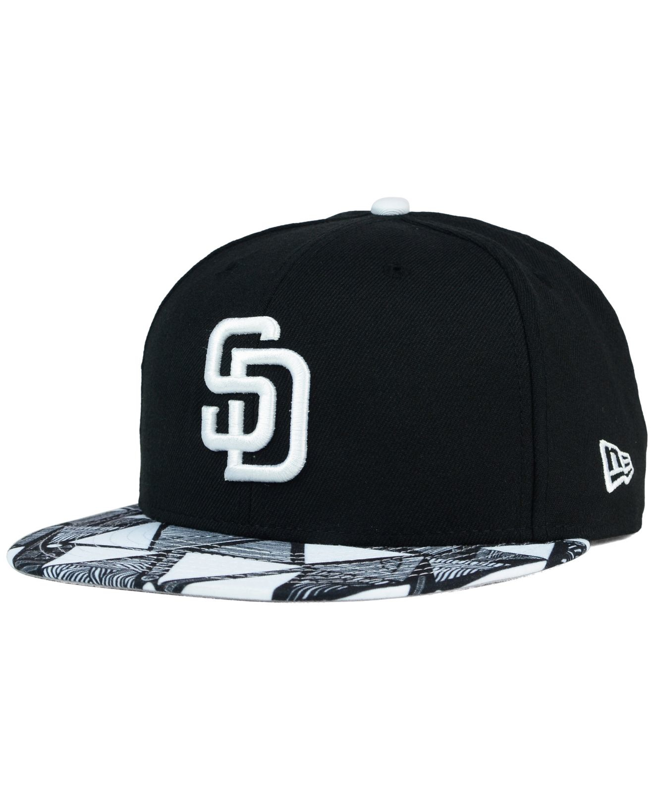 size 40 302b2 2a72c ... greece lyst ktz san diego padres istic 9fifty snapback cap in black for  men ea1d1 e15ac