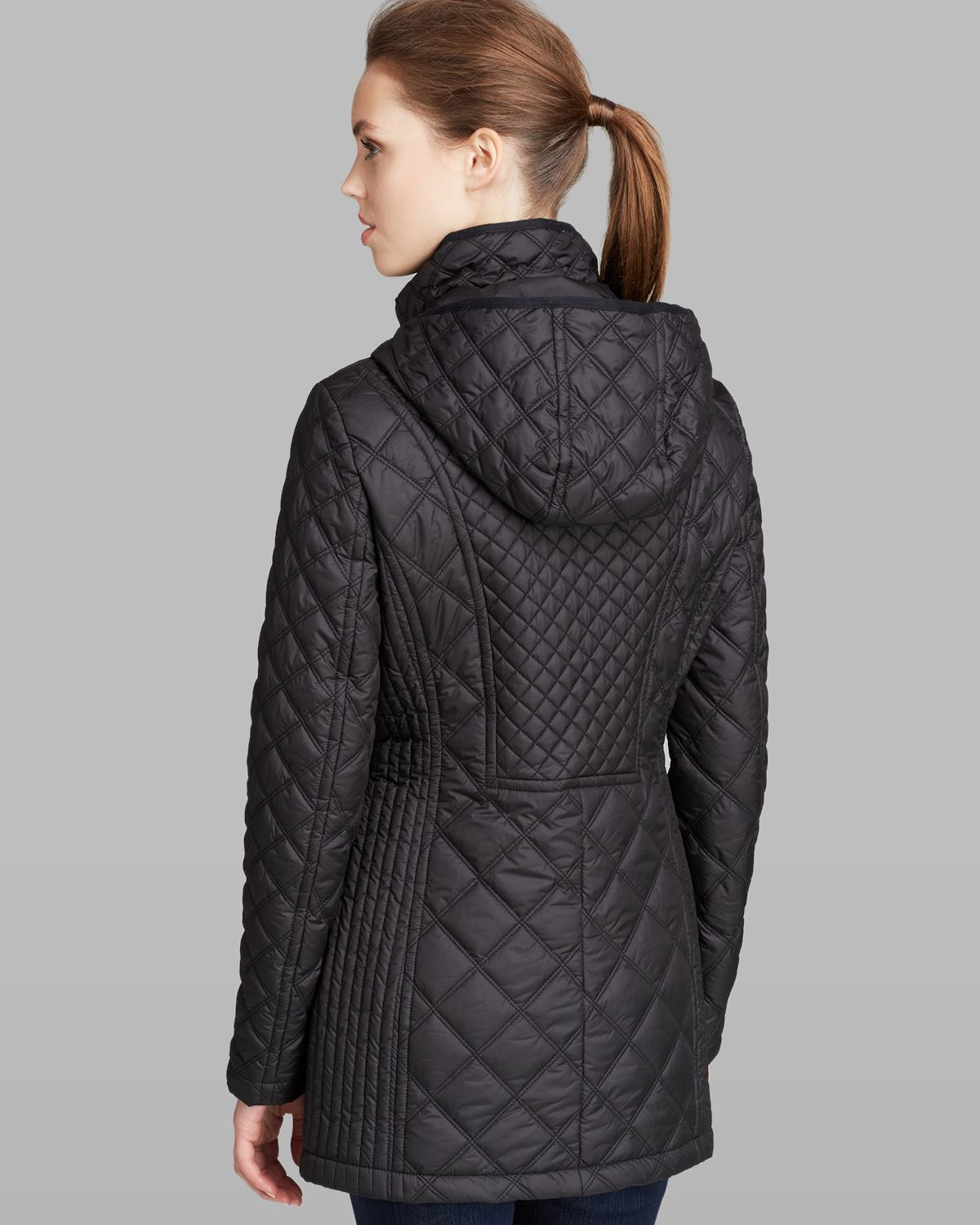 Marc new york Coat - Fay Quilted Hooded in Black | Lyst