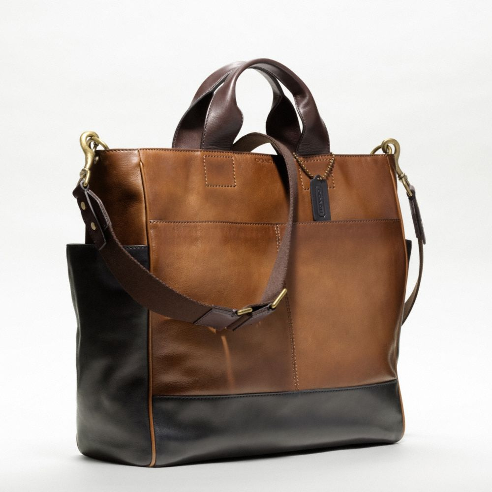 Lyst Coach Bleecker Leather Colorblock Utility Tote In
