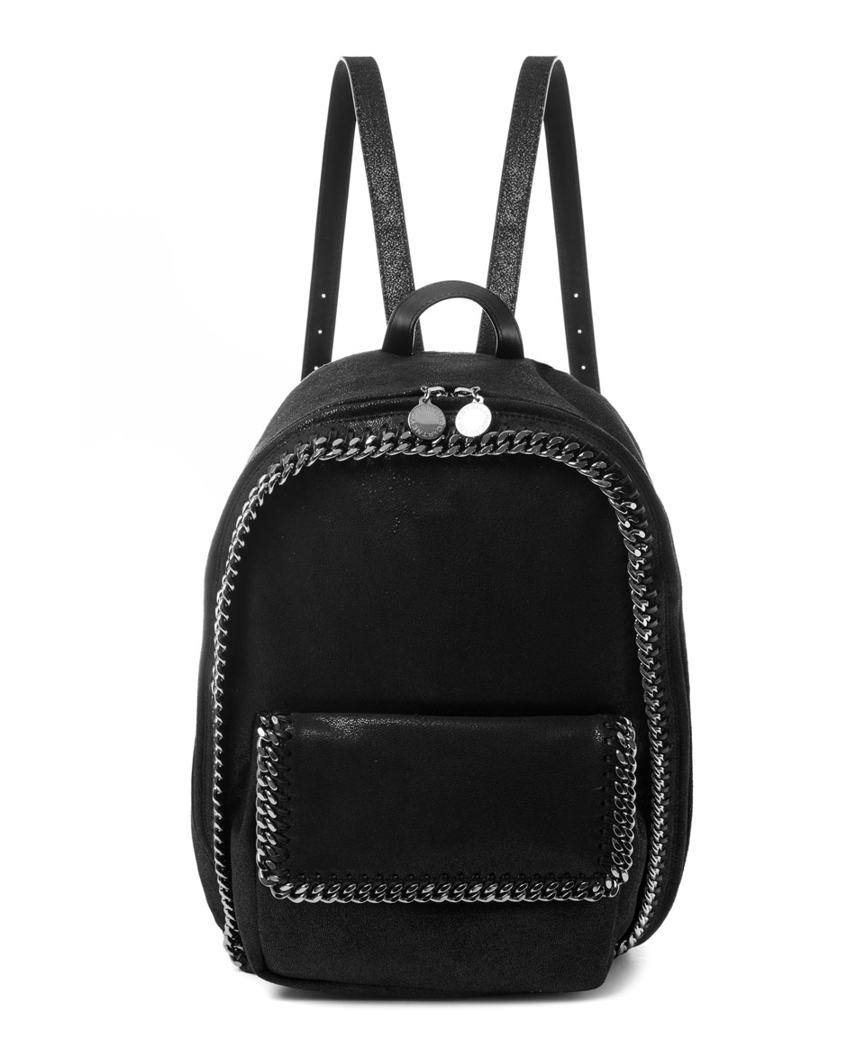 stella mccartney black falabella zipped backpack in black lyst. Black Bedroom Furniture Sets. Home Design Ideas
