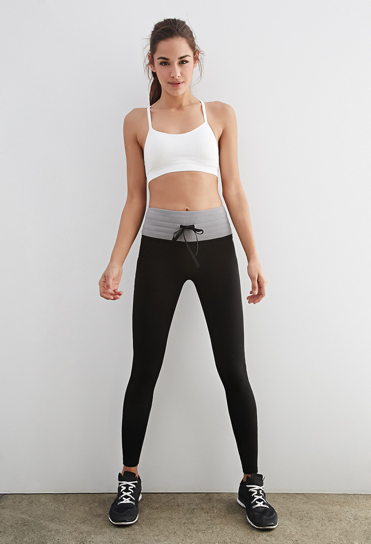 Forever 21 Active High Waisted Lounge Leggings In Black Lyst