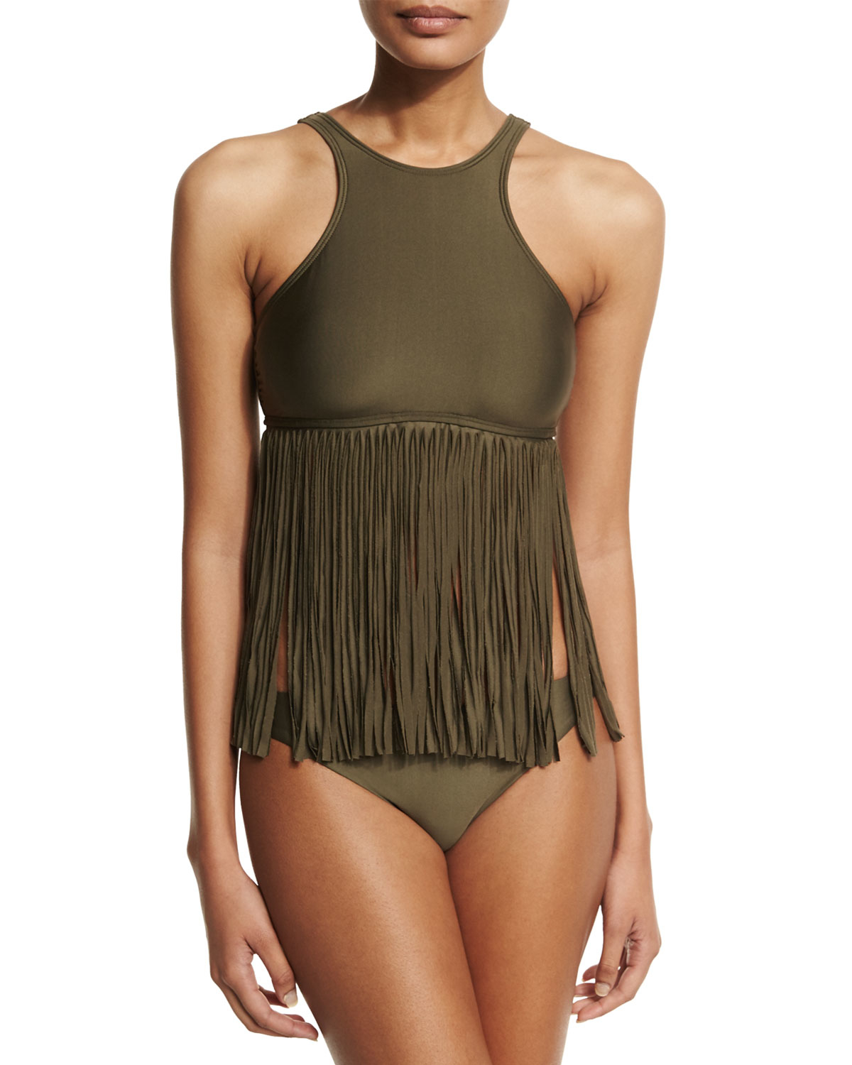 Lyst Luxe By Lisa Vogel Fringe Benefits High Neck