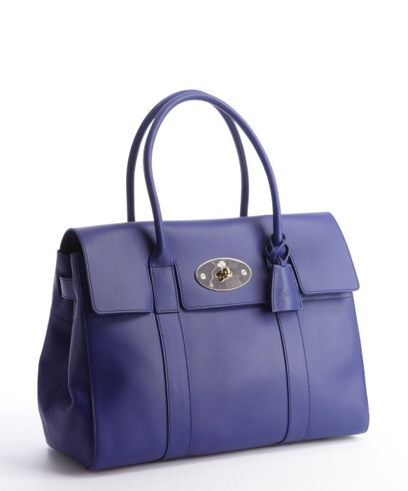 ... italy lyst mulberry cosmic blue polished calfskin bayswater top handle  7a67e 43d53 d01c54eb3ade3