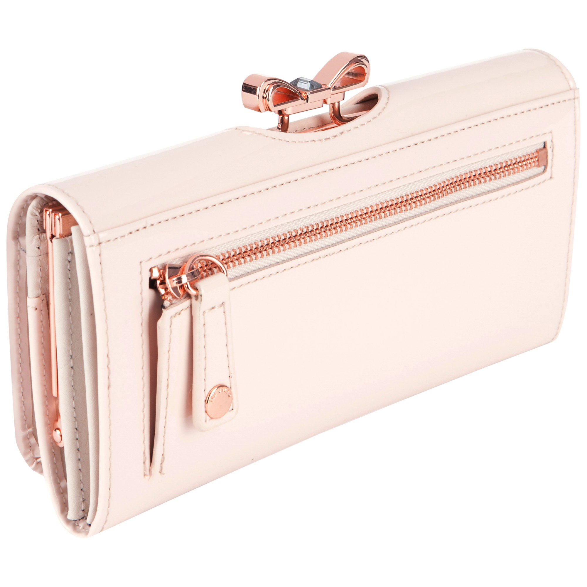 a35b0c692f6b0 Ted Baker Lindar Bow Bobble Leather Purse in Pink - Lyst