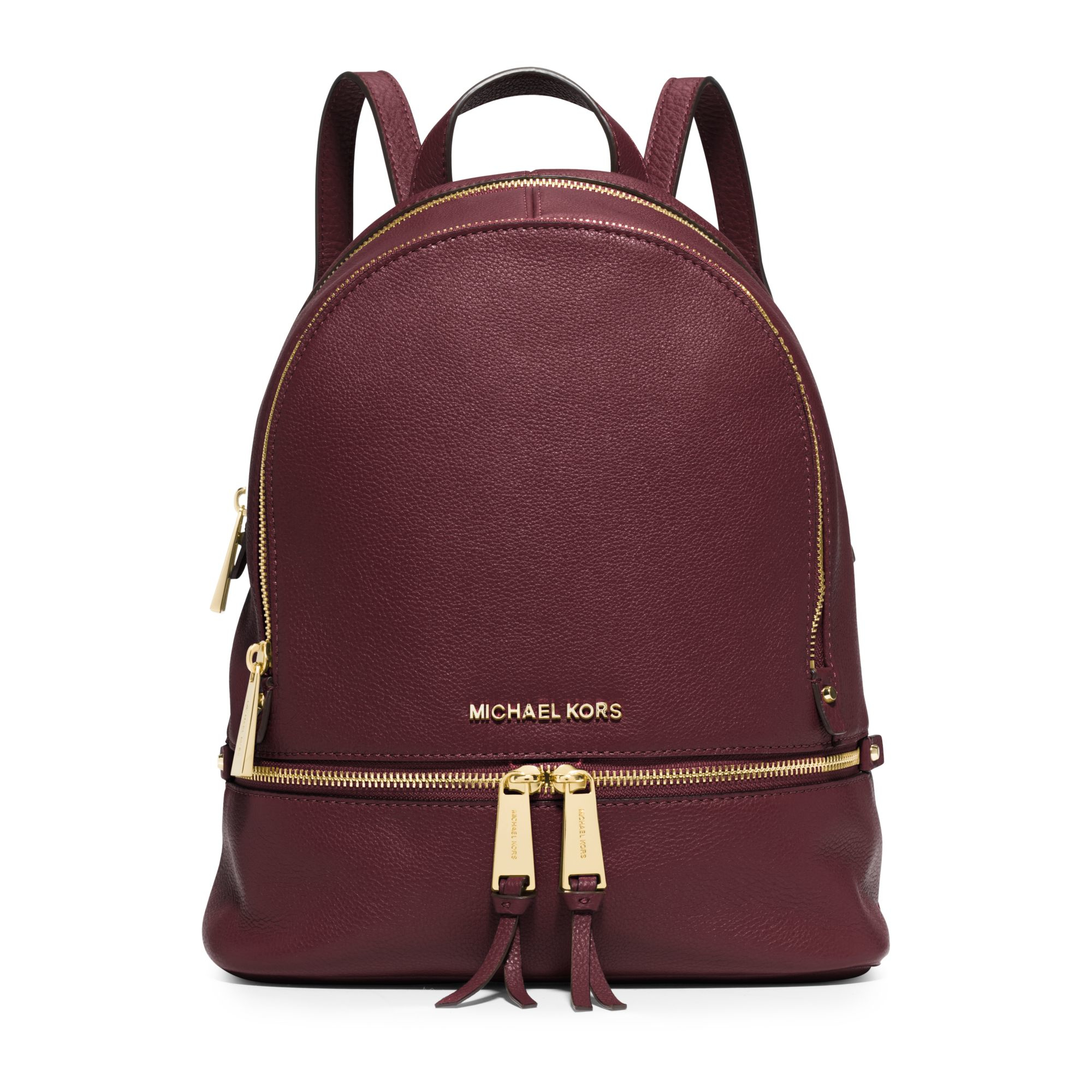 Michael Kors | Purple Rhea Small Leather Backpack | Lyst