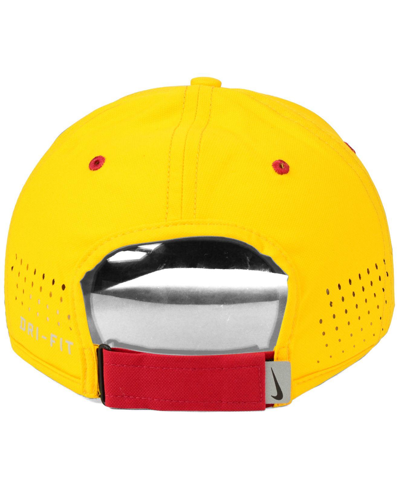 b3602329ad6b1 Nike Usc Trojans Dri-fit Coaches Cap in Yellow for Men - Lyst