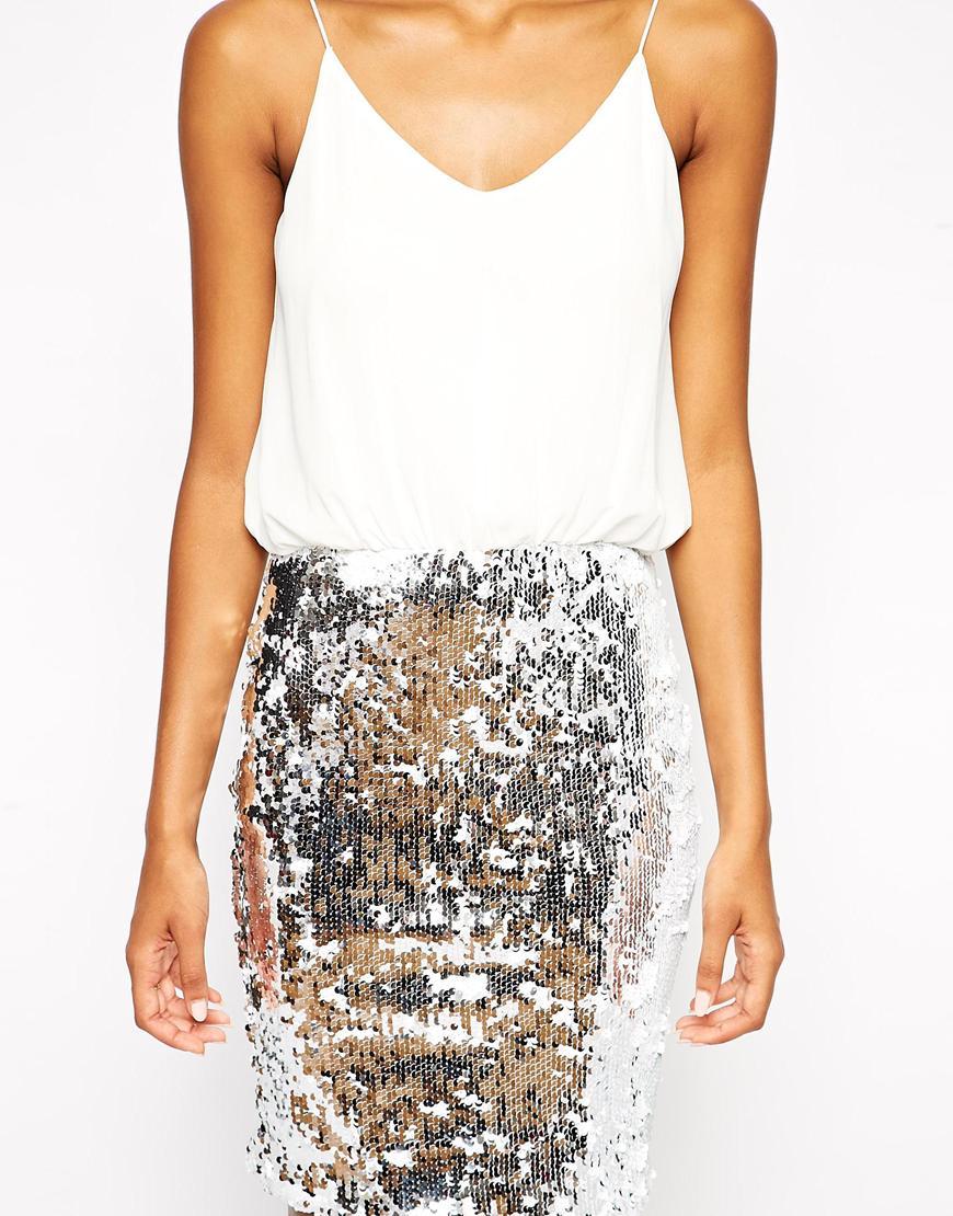 Sequin Bodycon Skirt - Skirts