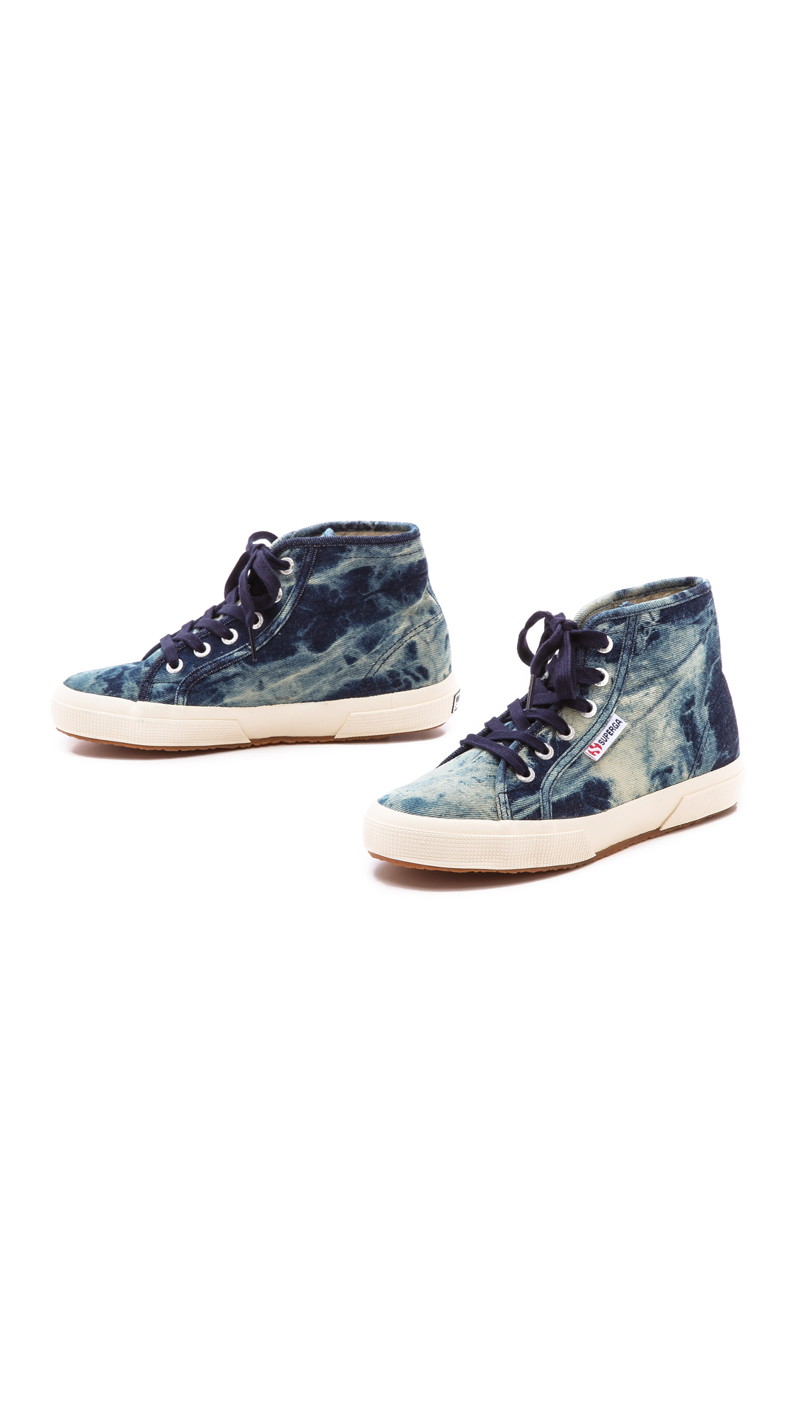 8745632a884ea Superga Denim High Top Sneakers - Indigo in Blue - Lyst