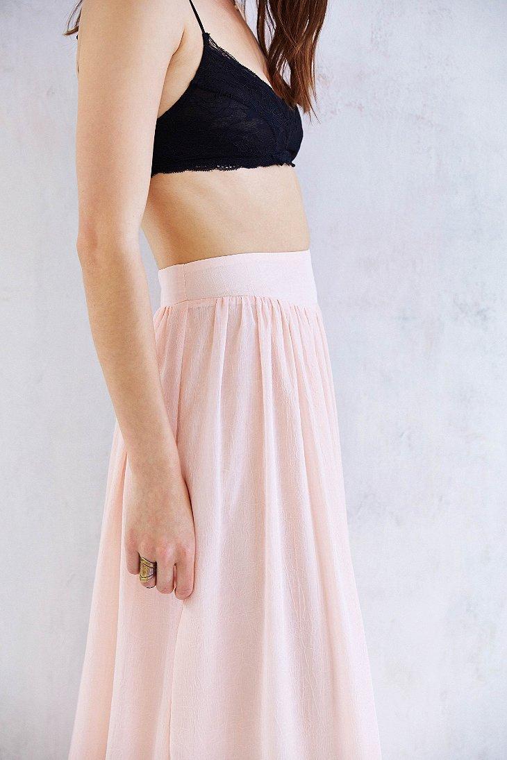 Pins and needles Yoke Chiffon Maxi Skirt in Pink | Lyst