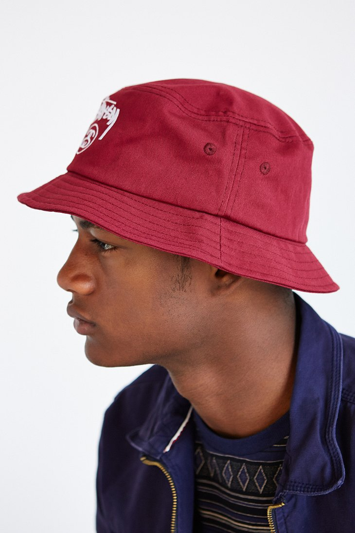 Stussy Stock Lock Bucket Hat in Red for Men - Lyst 5425a99c6fb