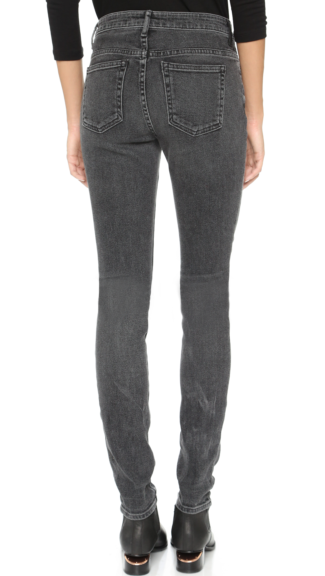 eba60e0d8a16 Lyst - Alexander Wang 001 Slim Fit High Rise Jeans in Gray