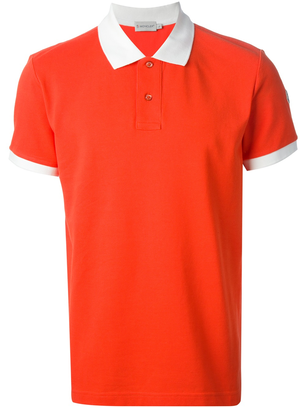 c116d91bb12c Lyst - Moncler Contrast Collar Polo Shirt in Red for Men