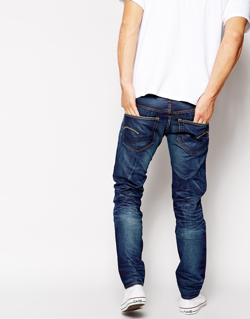 eb3bc842855 G-Star RAW G Star Jeans 3301 Low Tapered Vintage Medium Aged in Blue ...