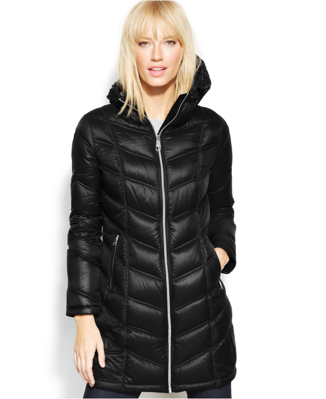 Lyst Calvin Klein Quilted Down Packable Puffer Coat In Black