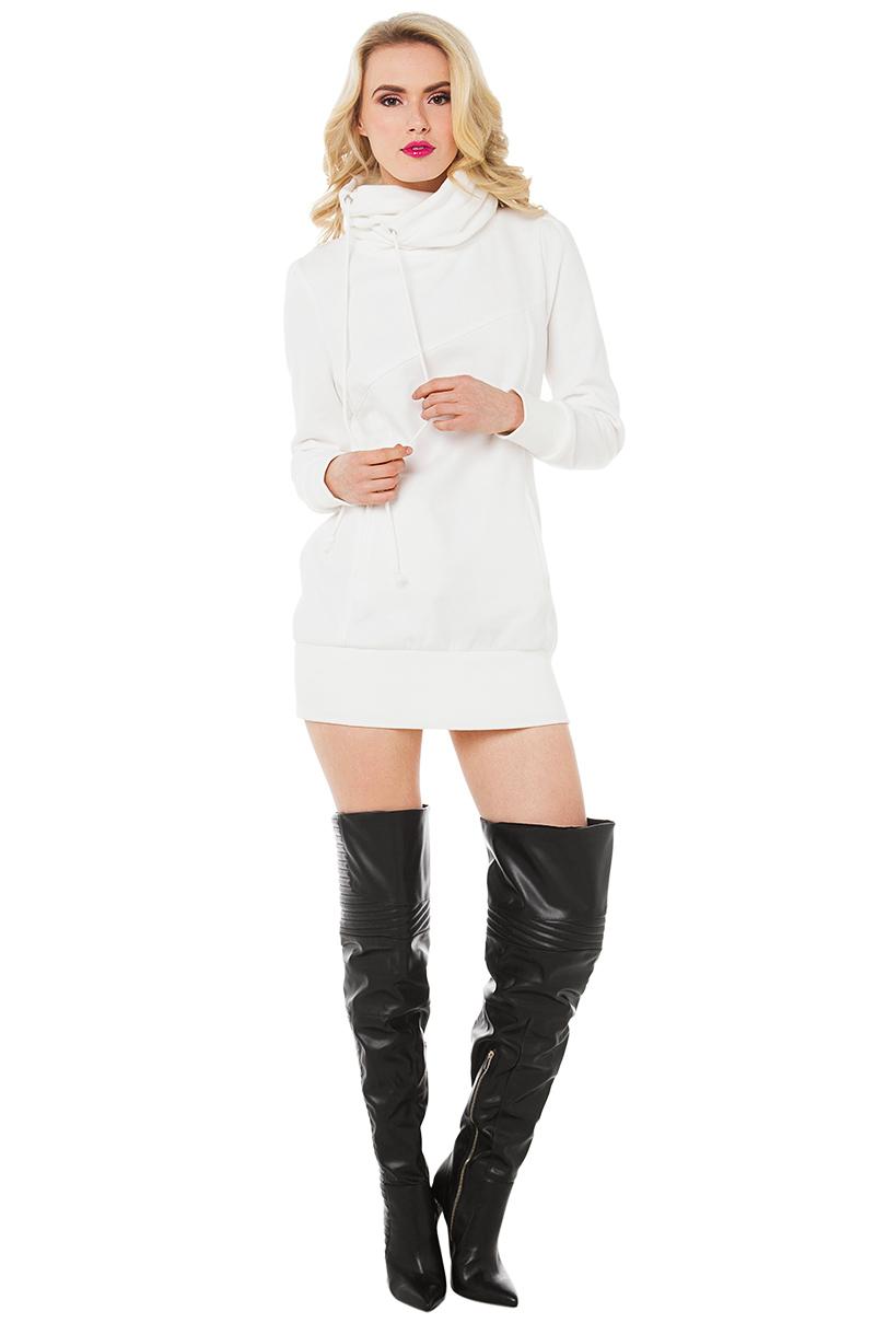 All white hoodies