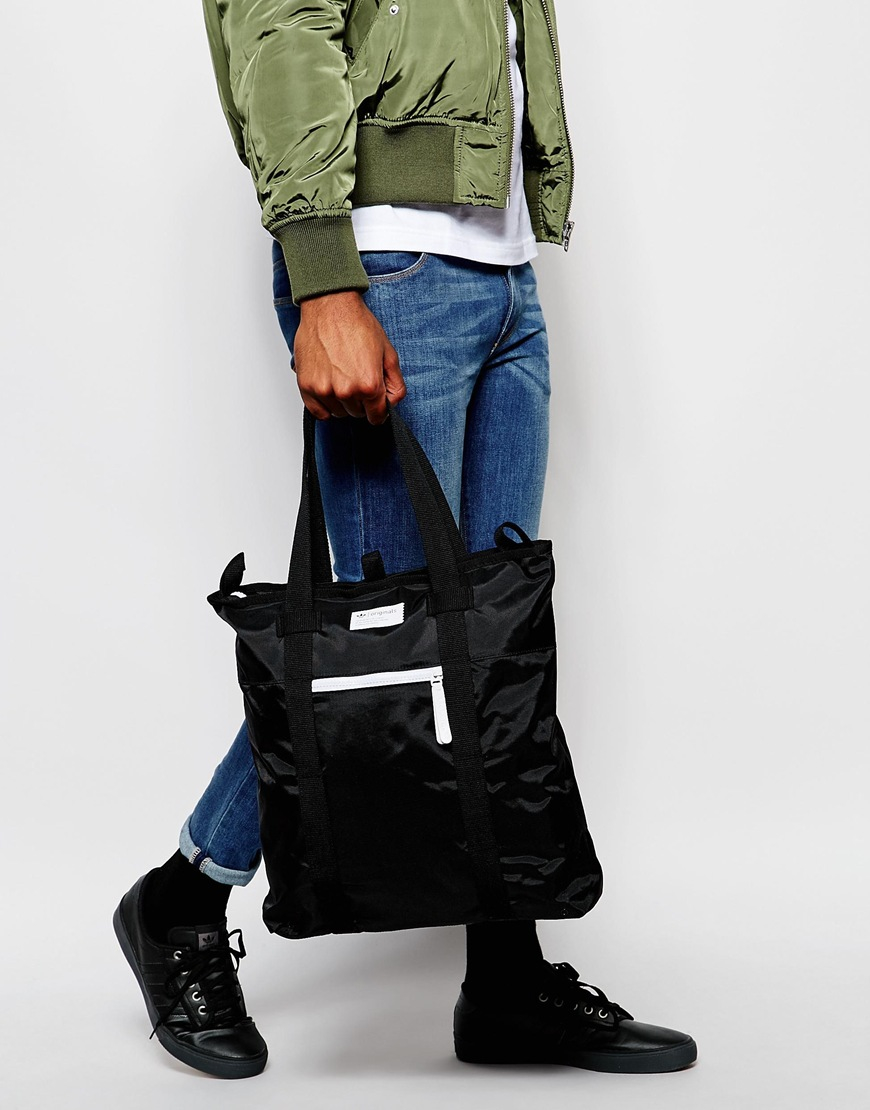 Lyst - adidas Originals Tote Bag in Black 3f95acce39bc1