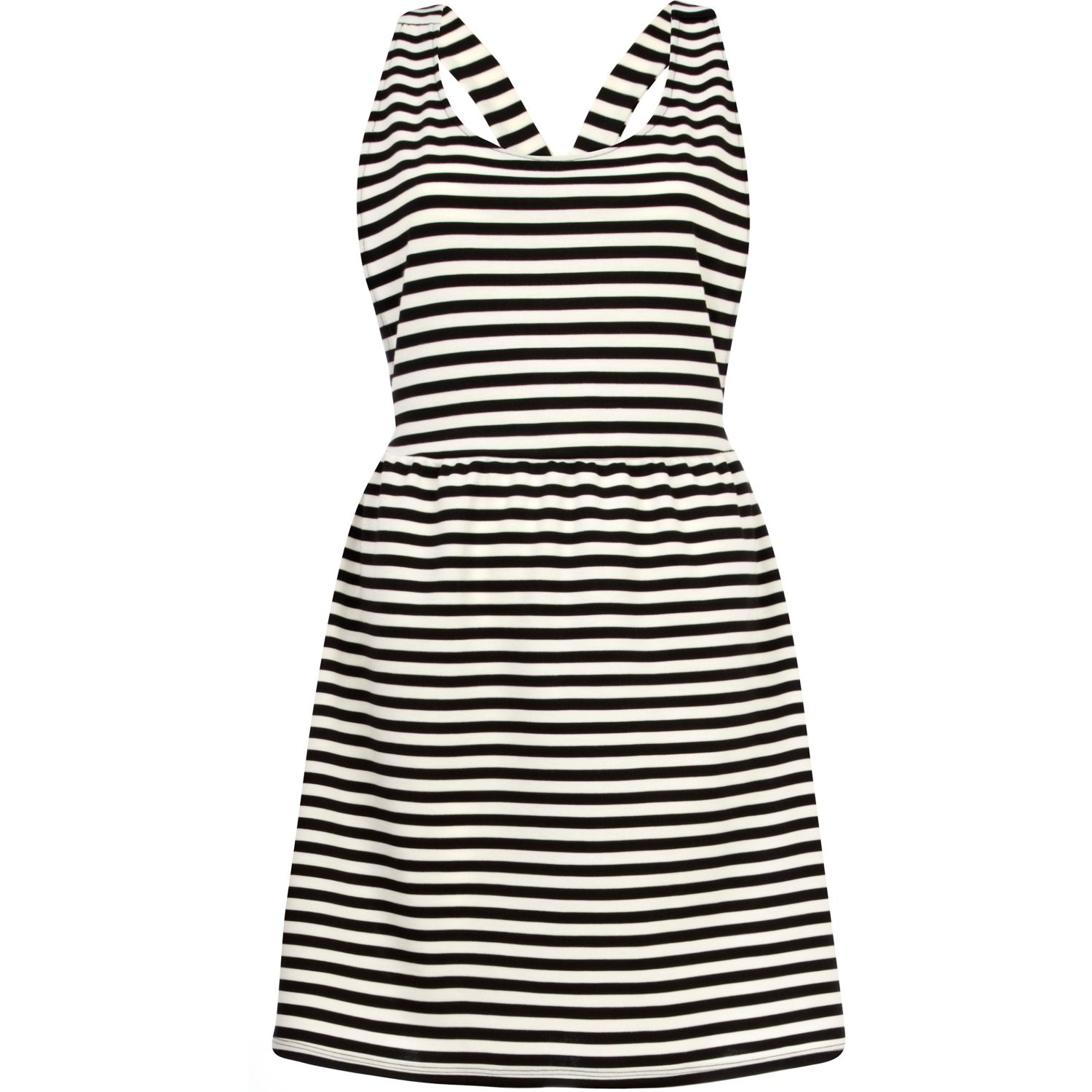 River island black and white striped dress