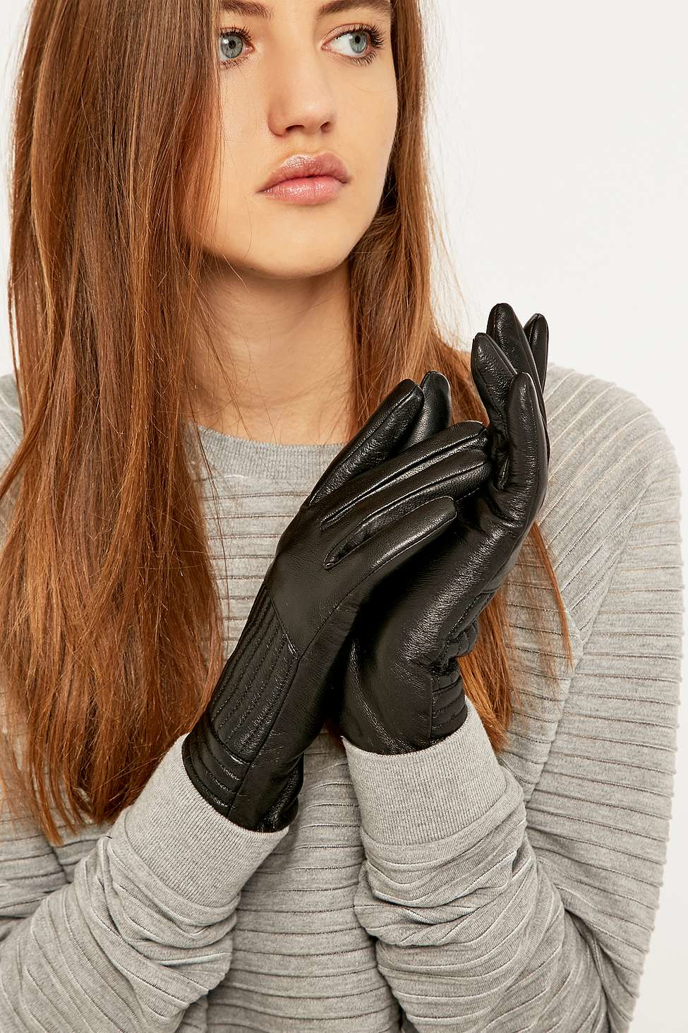 Black leather gloves female - Gallery Previously Sold At Urban Outfitters Women S Leather Gloves