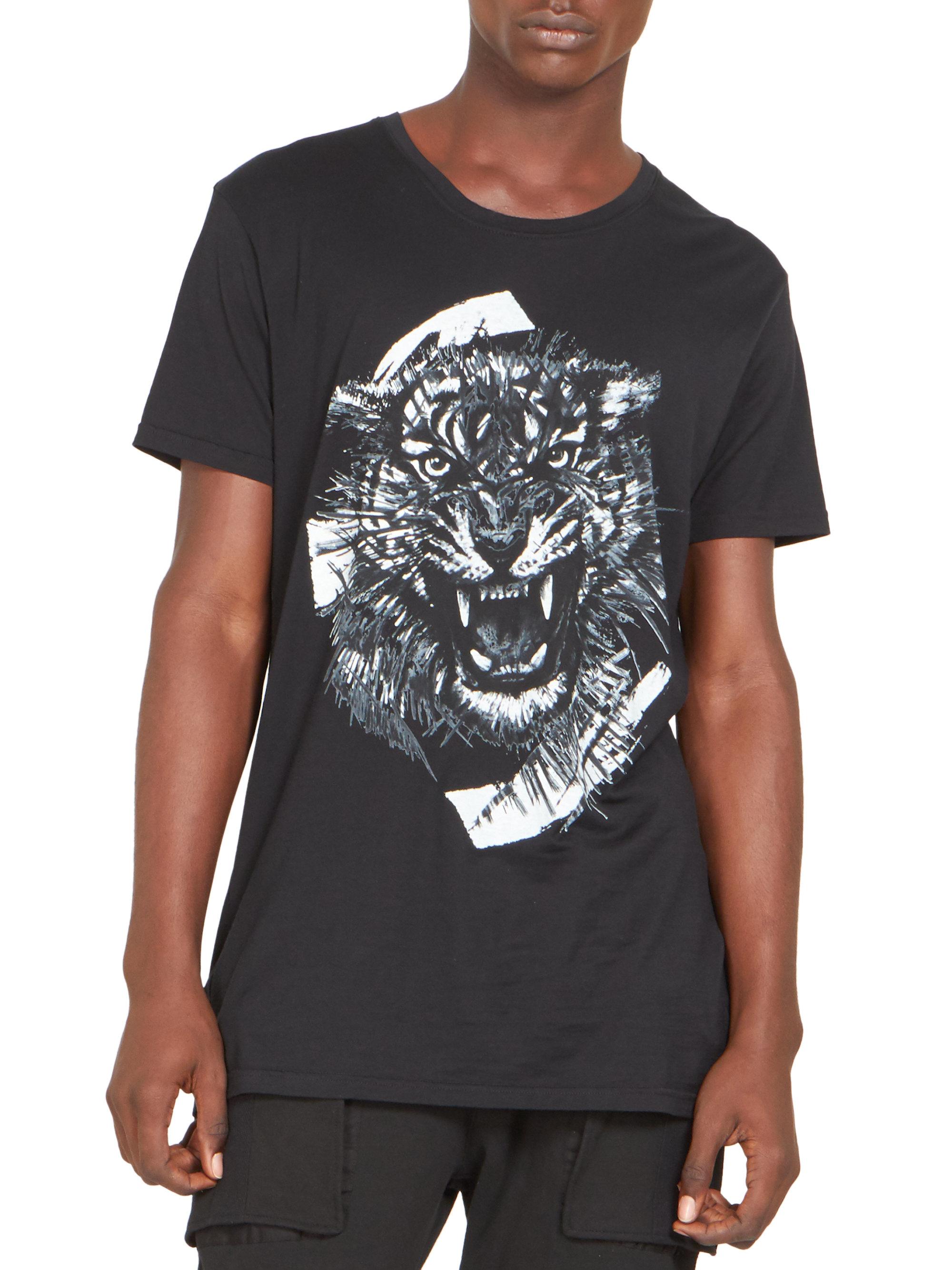 Balmain graphic print T-shirt - Negro kdgwLy4