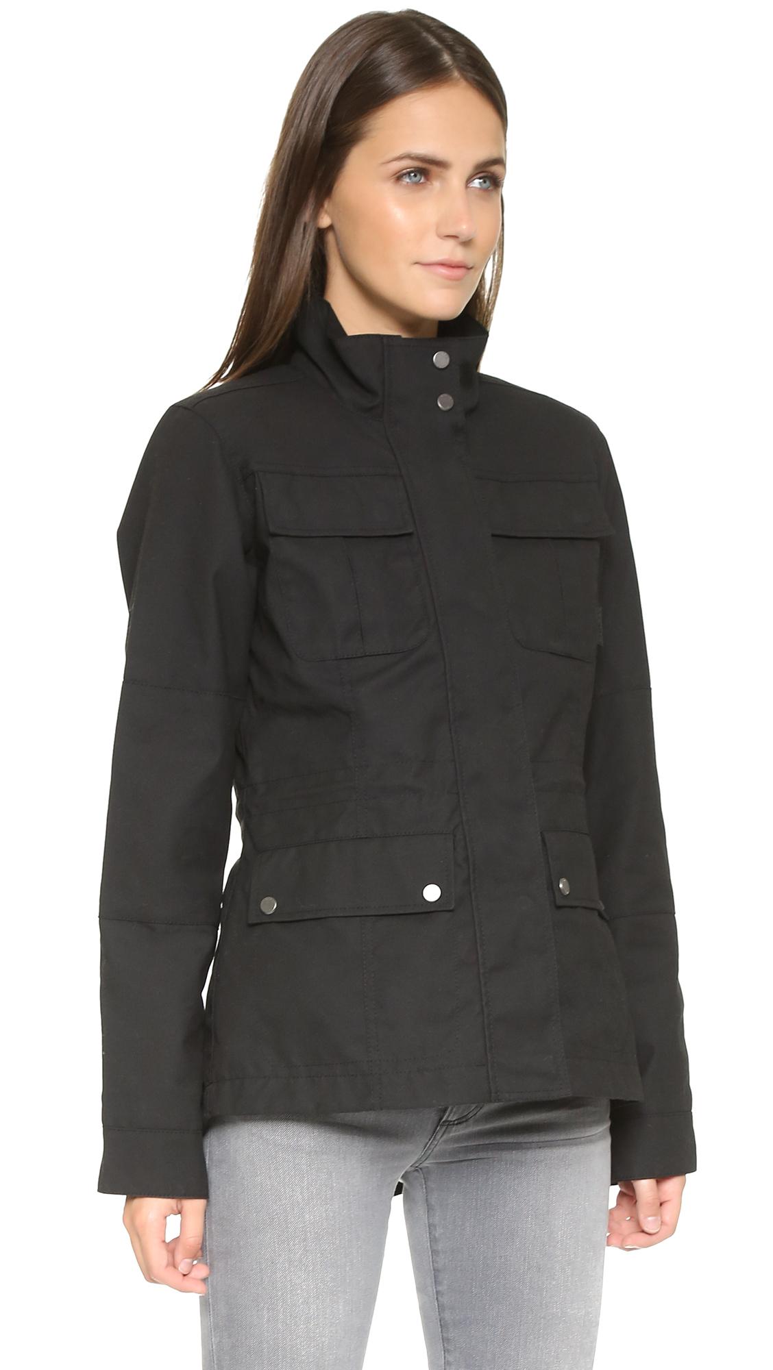 Hunter Womens Original Winter Utility Jacket Black In