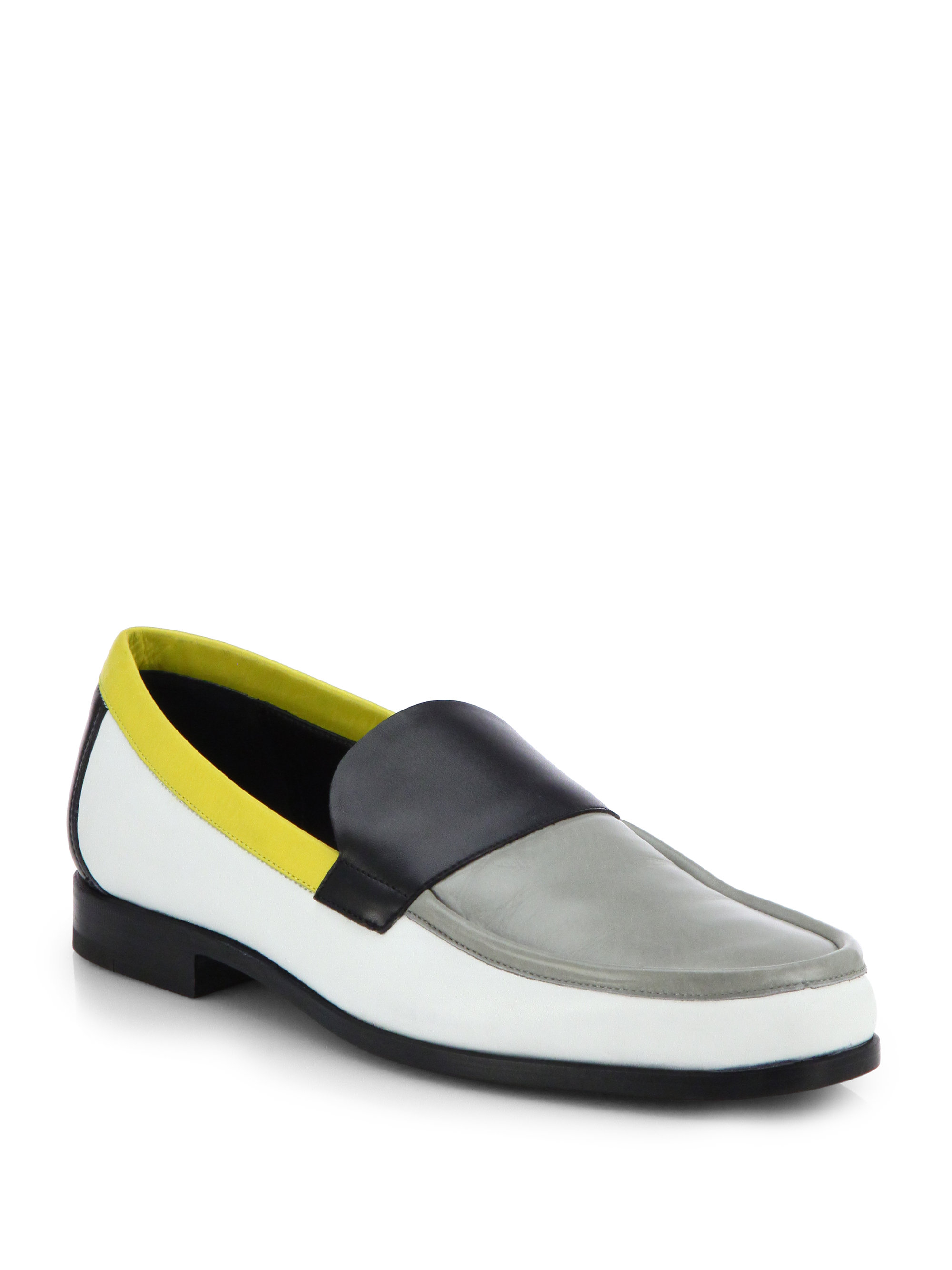 Lyst Pierre Hardy Leather Multicolored Loafers In Yellow